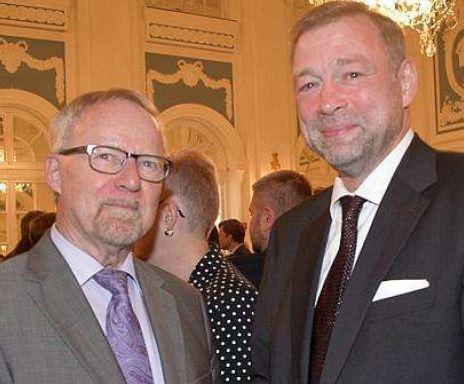 Gespräche: Konsul Ivan Khotulev (rechts) und Helmut Hinrichs.